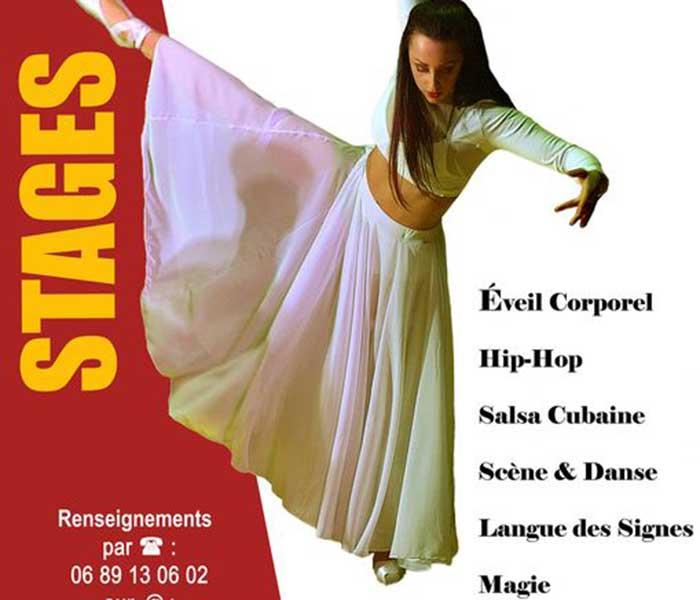 Stages de danse, éveil corporel, Langue des Signes, Magie...